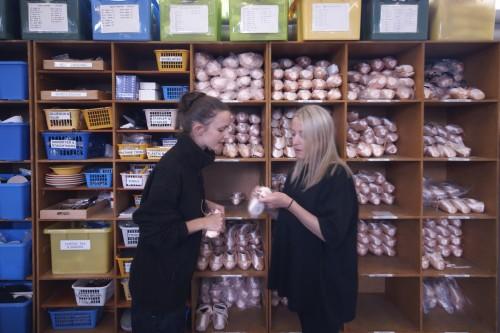 Kim & colleague in the NBT Wardrobe department
