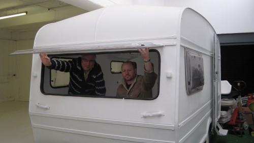 Mac (elusive) and Stuart go camping! Umbrella Creative