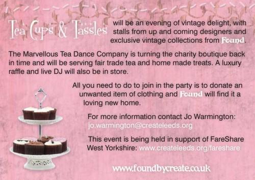 tea cakes and tassels
