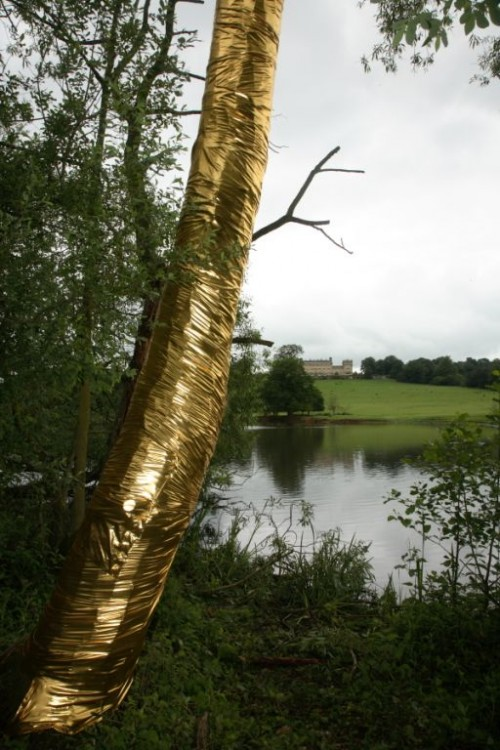 Going for gold. Kate Davis contribution to birthday exhibition at Harewood. (c) Simon Warner