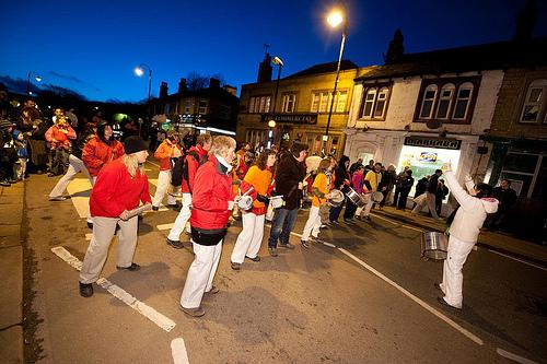 A procession isn't a procession without a samba band