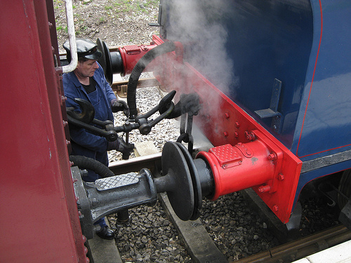 engineer on Middleton Railway
