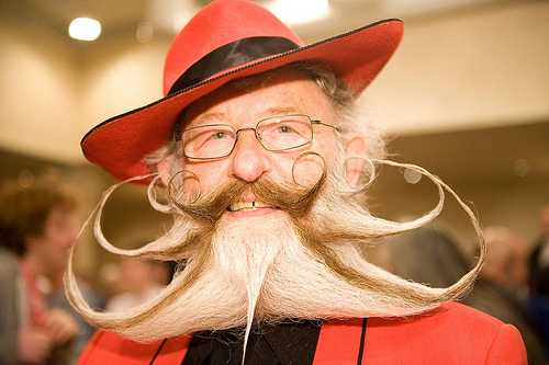 "Gerhard Knapp (Germany), 3rd place in the ""Freestyle Beard"" category"