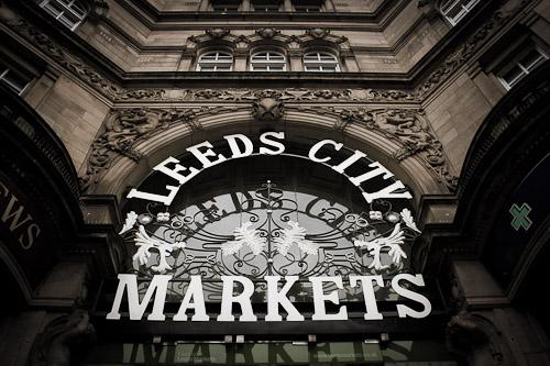 Grand glazed entrances to Kirkgate Market
