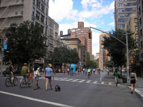 A ciclova in New York