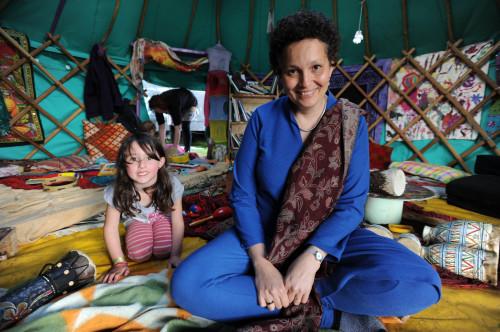 Sita Brand in her Storytelling Tent