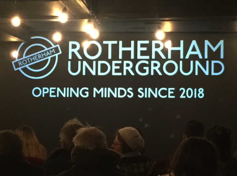The opening night's audience at Rotheram Underground