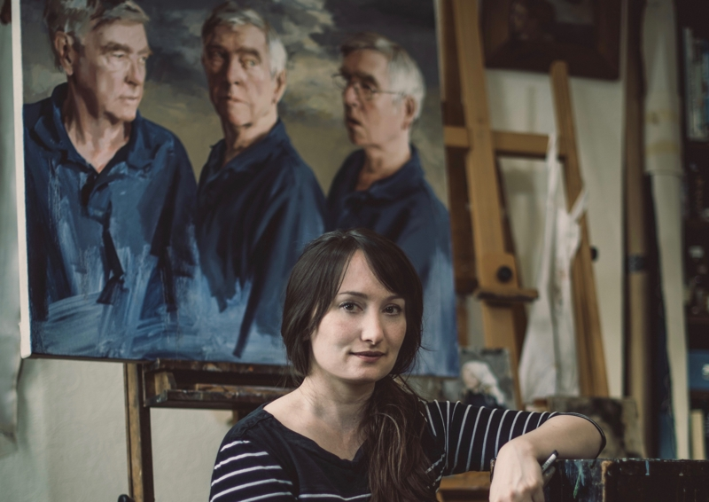 Artist, Isobel Peachey in her studio (Photo: Daniel Lewis)