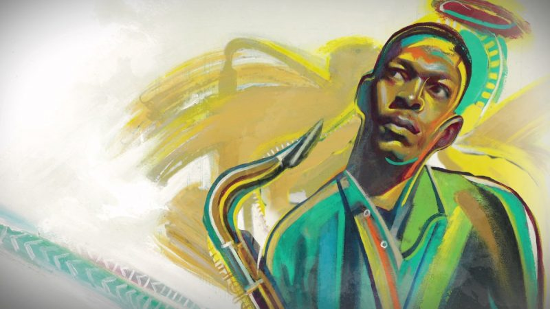 John Coltrane (Illustration by Rudy Gutierrez)