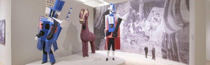 Pablo Picasso - Costumes and backdrop for Parade (Scudare del Quilinare)