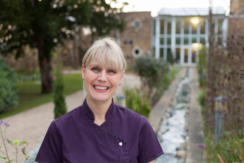 Lisa, Volunteer Complimentary Therapist. Image ©Olivia Hemingway (40 Faces of St Gemma's Hospice Project)