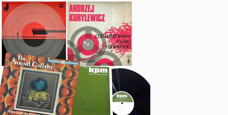 Library Music LP covers (including The Sound Gallery)
