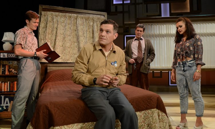 Mathew Horne as Raymond, Ed Speleers as Charlie, Elizabeth Carter as Susan and Neil Roberts as Dr. Bruener star in The Classic Stage to Screen production of Rain Man.