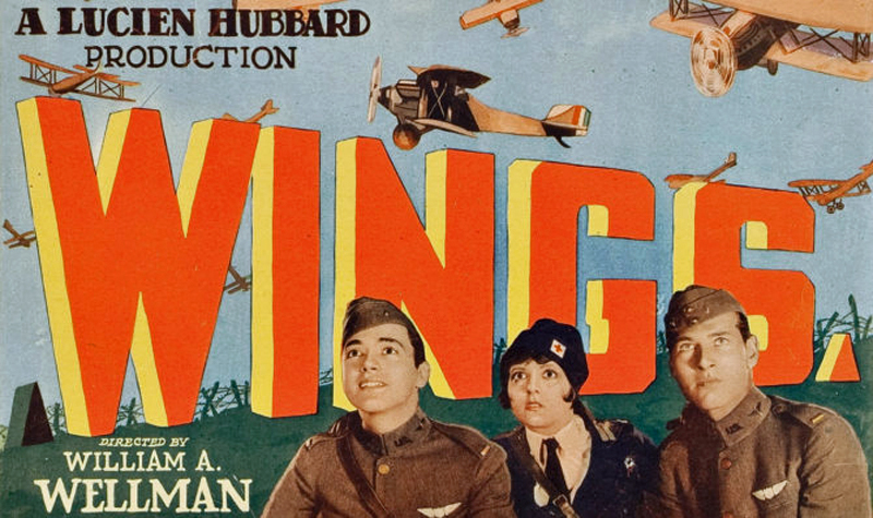 Original film poster for William A Wellman's WINGS