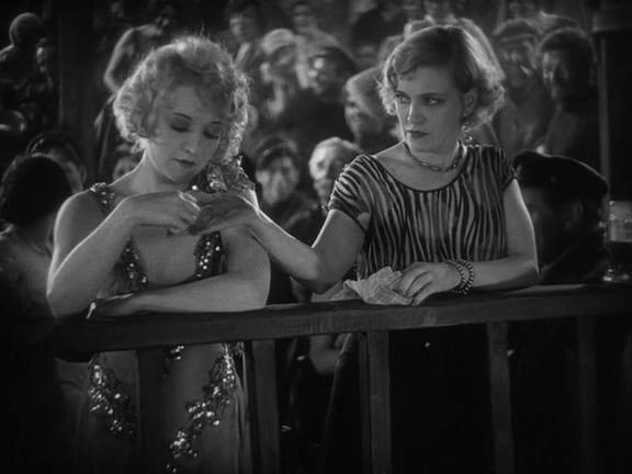 Betty Compson and Olga Baclanova in The Docks of New York