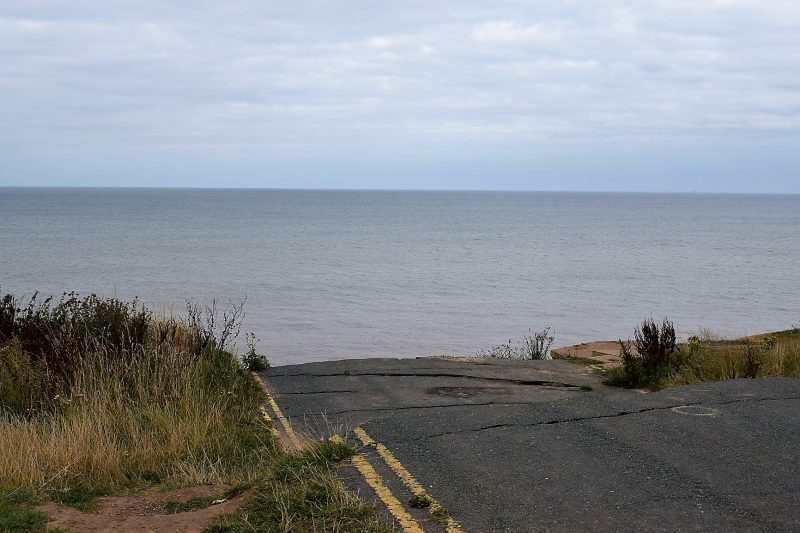 Road on the Holderness coast