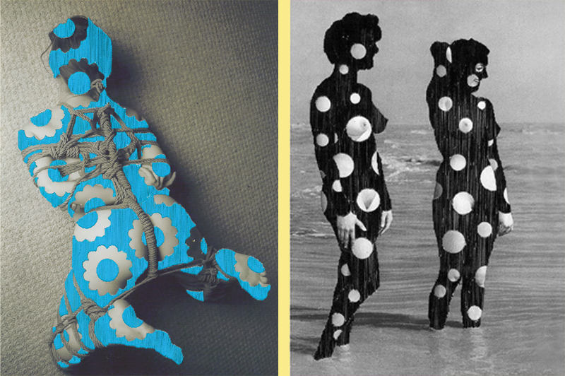 Laura Angell - Macrami (left) and Wetsuits (Courtesy of the artist)