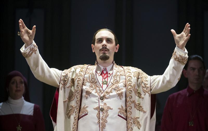 John Savournin in Opera North's The Magic Flute. Photo: Alastair Muir.