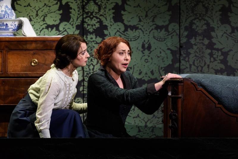 Katie Bray as Varvara and Stephanie Corley as Katya in Opera North's Katya Kabanova (Photo credit: Jane Hobson)