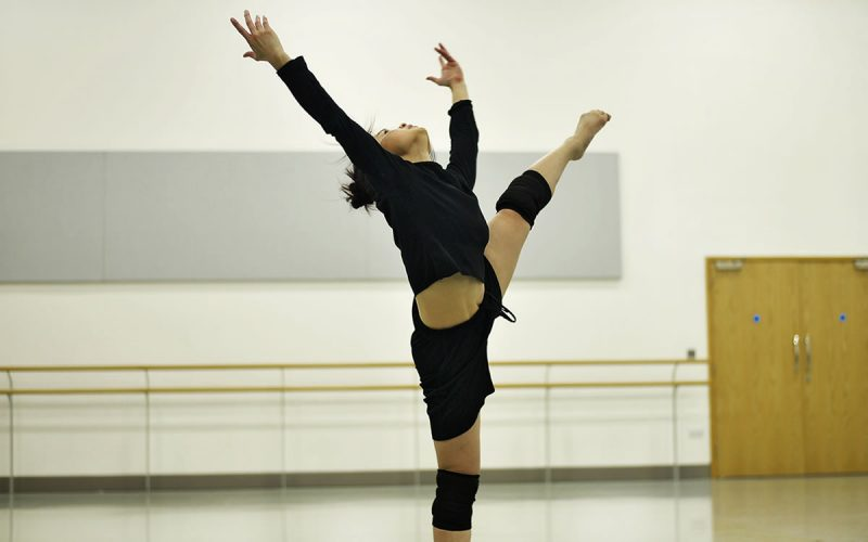 Vanessa Vince-Pang rehearsing The Rite of Spring, choreographed by Jeanguy Saintus © Jack Thomson
