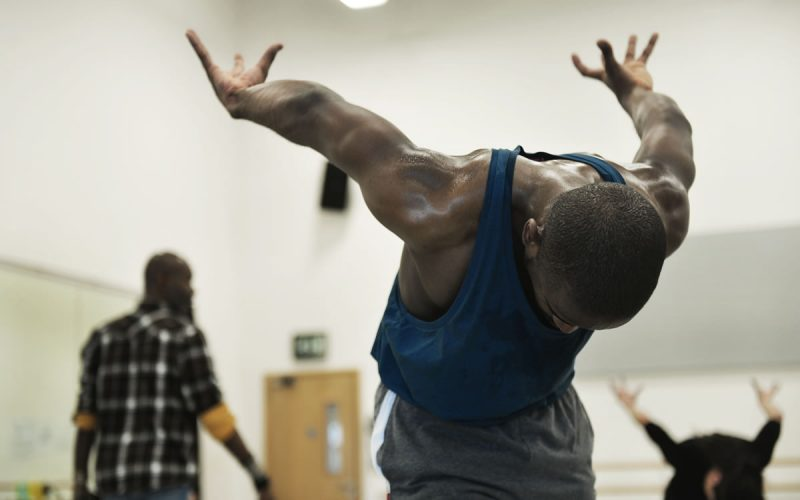 Aaron Chapling rehearsing The Rite of Spring, choreographed by Jeanguy Saintus © Jack Thomson