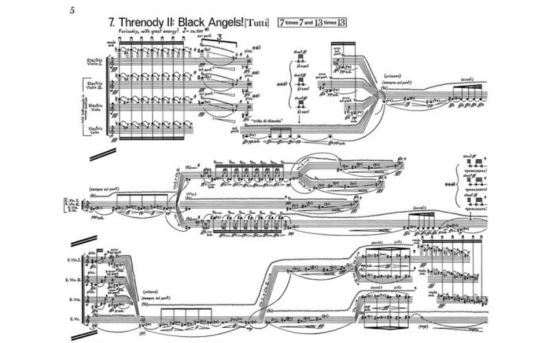 Part of George Crumb's score for Black Angels