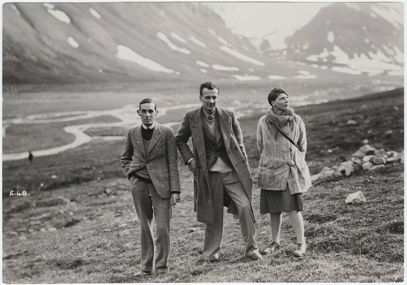 On location: from left Gavin Arthur, Kenneth Macpherson and Bryher (Annie Winifred Ellerman)