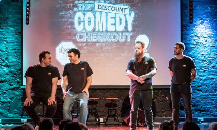 Discount Comedy Checkout onstage
