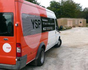 YSP minibus in car park