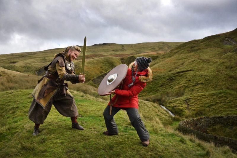 Ben in Viking costume